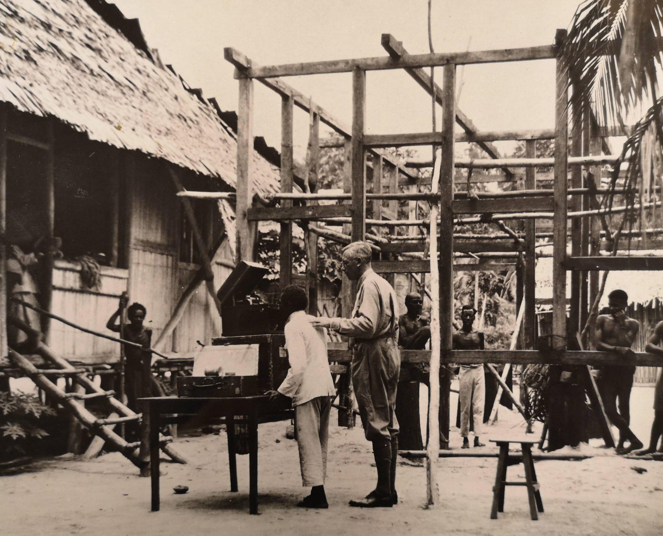 Recording Session at Urbinasopèn, Waigéo (1932) - Jaap Kunst Collection, Amsterdam